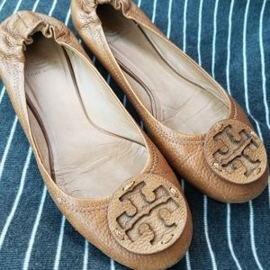 Brown Tory Burch Ballet Flats